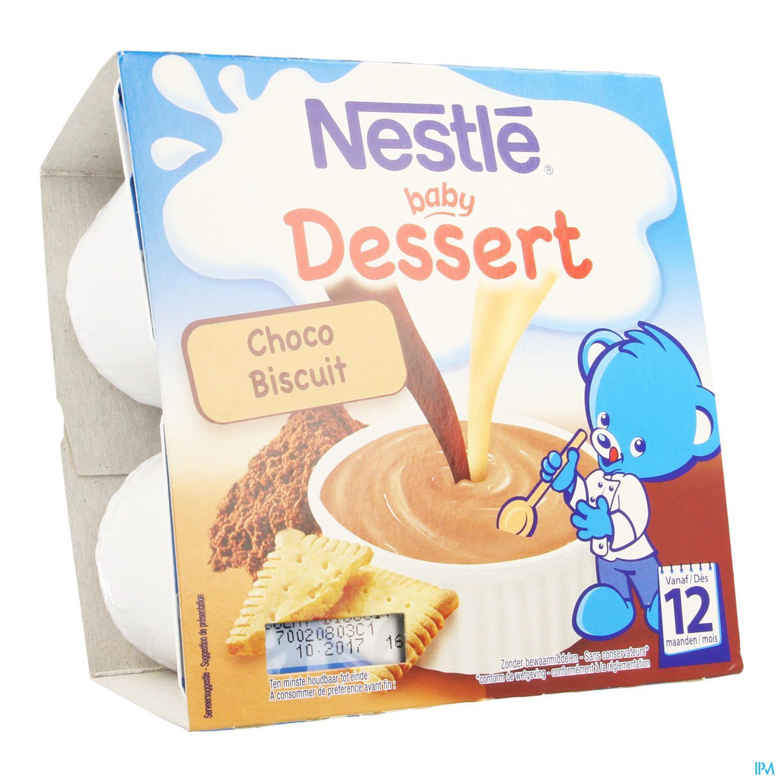 Initier Bébé Au Pot nestle baby dessert choco biscuit pot 4x100g