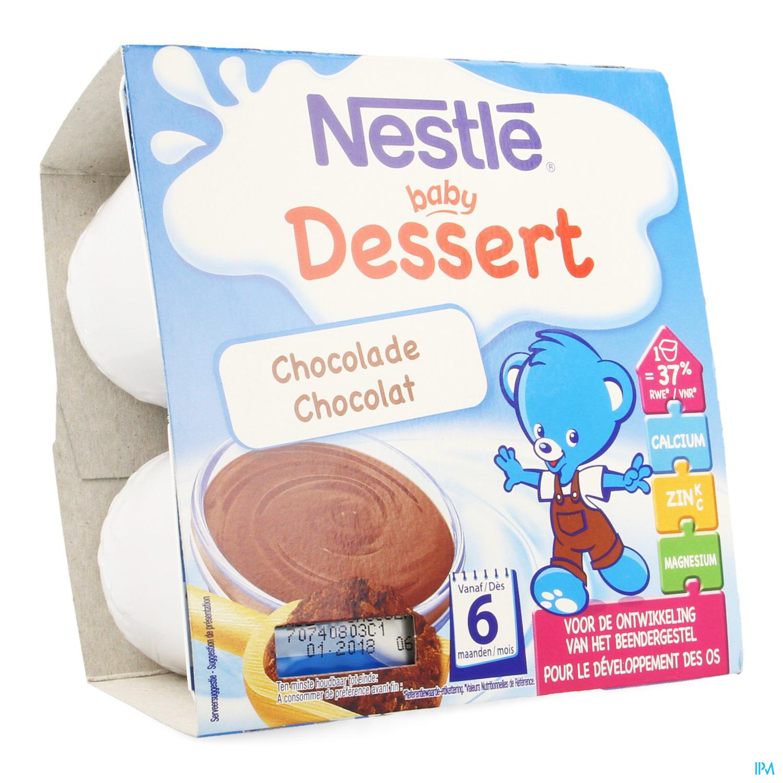 Initier Bébé Au Pot nestle baby dessert chocolat pot 4x100g
