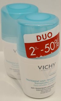 VICHY DEO TRANSP. INTENSE BILLE 48H DUO 2X50ML