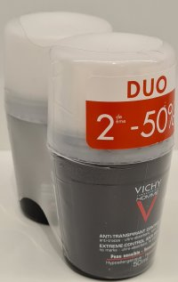 VICHY HOMME DEO A/TRANSP. 72H BILLE DUO 2X50ML