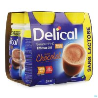 2930394 DELICAL EFFIMAX 2.0 CHOCOLADE 4X200ML