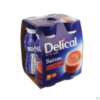 2930402 DELICAL MELKDRANK HP-HC RODE VRUCHTEN 4X200ML