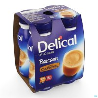 3103686 DELICAL MELKDRANK HP-HC CARAMEL 4X200ML