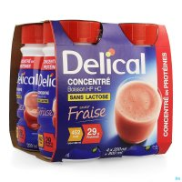 3704327 DELICAL GECONCENTR. AARDBEI 4X200ML