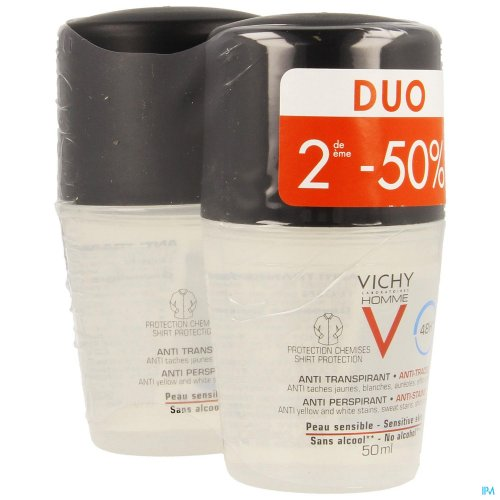 VICHY HOMME DEO MINERAL DUO 2X50ML